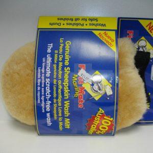 Sheepskin Wash Mitt with Thumb - quality craft Rowville