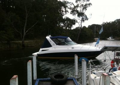 Full Length Bimini Top with Front and Side Clears plus Camper off Targa